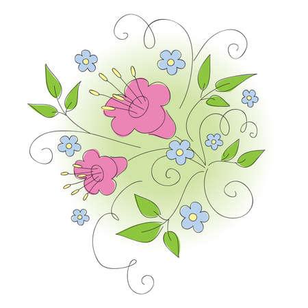 Floral design.  illustration