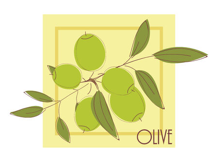 illustration with olives Stock Vector - 8264876