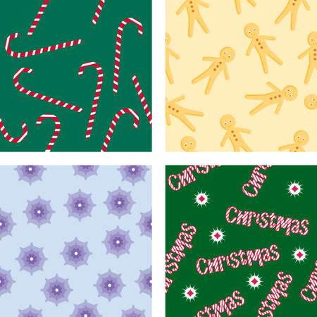 Four Christmas backgrounds Stock Vector - 8264897