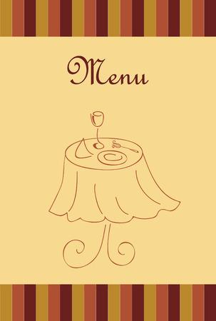 menu for restaurant Stock Illustratie