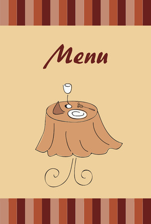 menu:  menu for restaurant Illustration