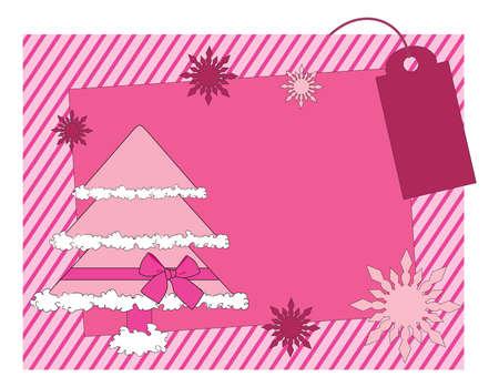 Christmas girlish  card Vector