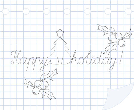 Happy holiday  hand drawn illustration Stock Vector - 8366261