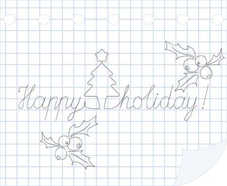Happy holiday  hand drawn illustration Stock Vector - 8366261