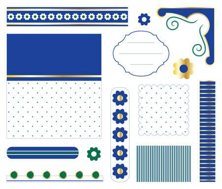 Digital  scrapbook Vector