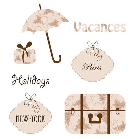 Léments de vecteur de voyage Banque d'images - 8416867