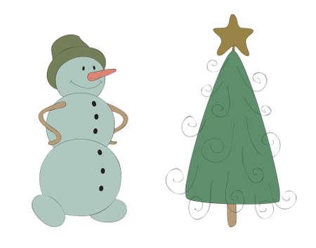 Snowman vector illustration 向量圖像