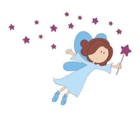 Illustration of flying angel
