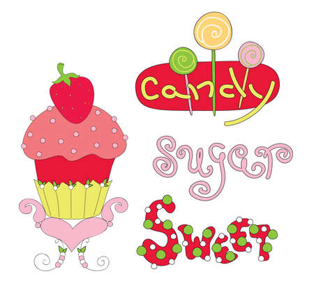 Vector illustration of sweetness