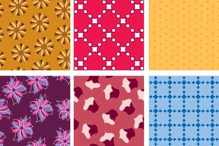 rhomb: Vector colourful textures Illustration
