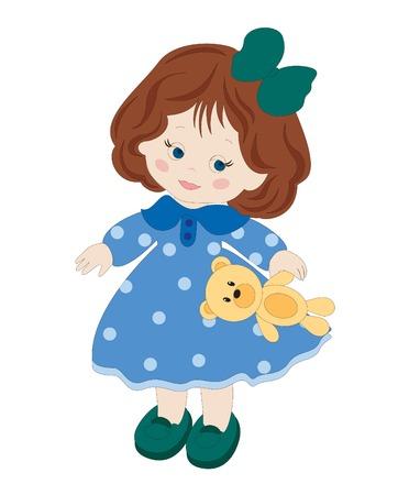 Vector illustratie van cute girl