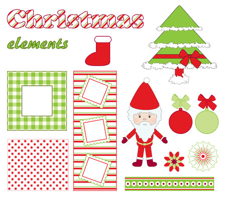 Christmas elements. Çizim