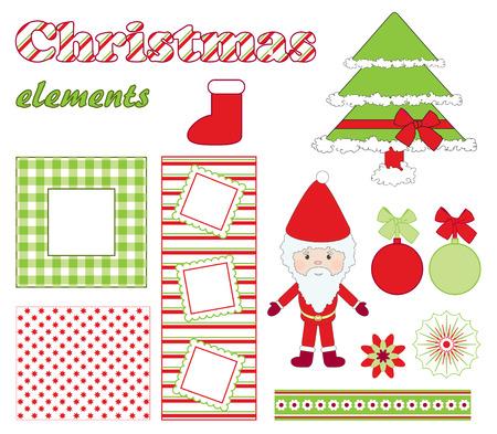 photo album: Christmas elements. Illustration
