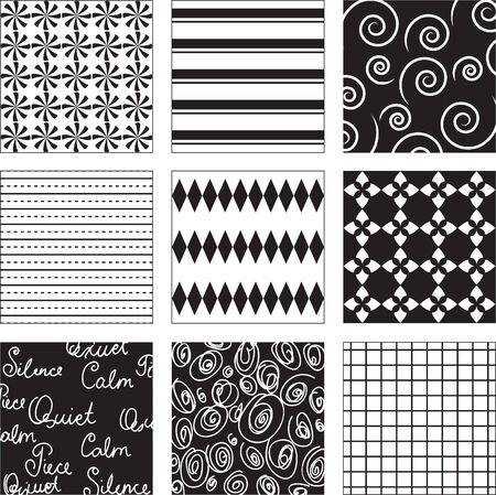 Black and white seamless background