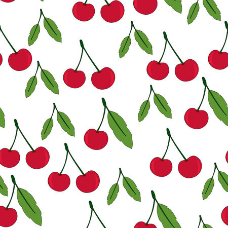 Cherry seamless Stock Vector - 8558441