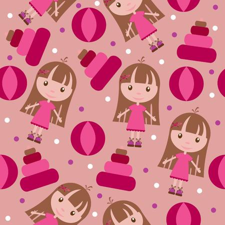 Seamless kids wallpaper pattern Vector