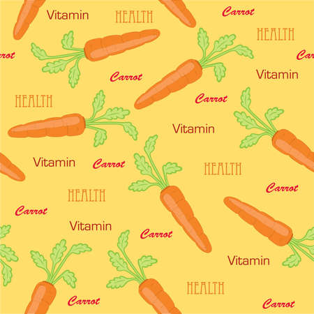 Carrot seamless Vector