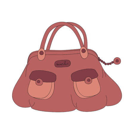 Handbag, hand drawn illustration Vector