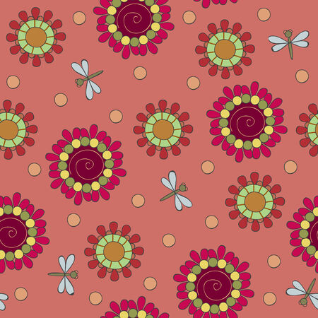 Floral seamless Vector wallpaper Illustration