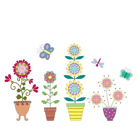 hand drawn flower: Hand drawn vector illustration