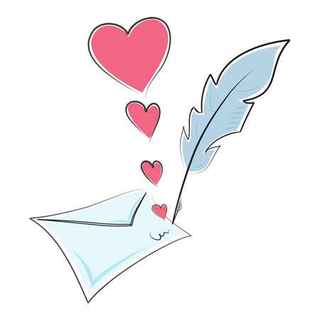Love letter.  illustration