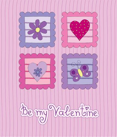 Valentine card Stock Vector - 8671110
