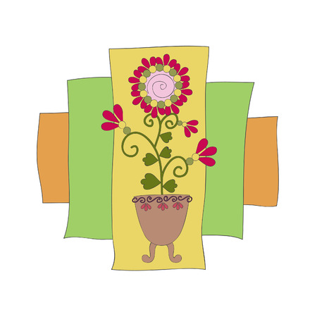Hand drawn vector illustration of flower Vector
