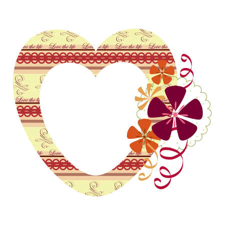 Heart frame with flowers Vector