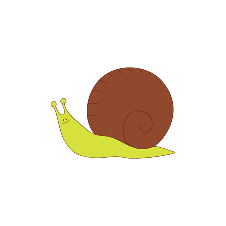 Hand drawn snail Vector