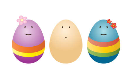 Vector funny eggs
