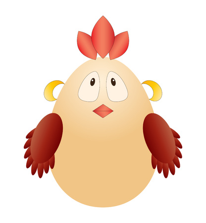 Funny chicken Vector