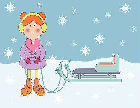 Abbildung der Winterurlaub Vektorgrafik