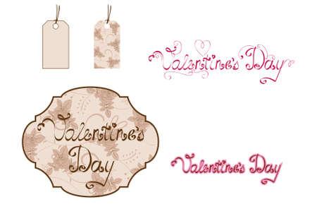 Digital scrapbooking for Valentine's Day Stock Vector - 8810135