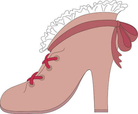 Hand drawn illustration of vintage shoe