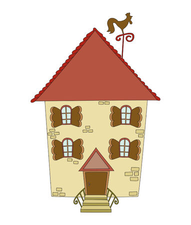 Hand drawn building Vector
