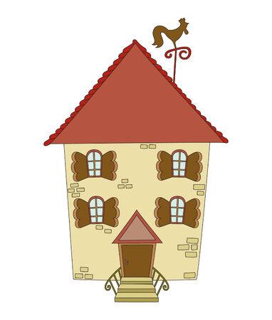 Hand gezeichnetes Gebäude Standard-Bild - 8906864