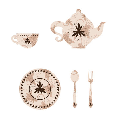 domestic kitchen: Vintage tableware