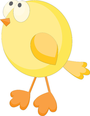 Funny little chick Vector