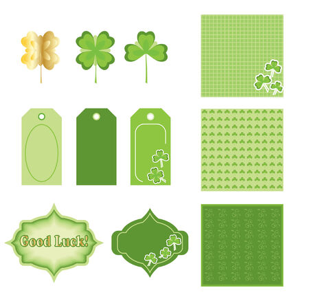 Scrapbooking elementen. St.Patrick's Day Stock Illustratie