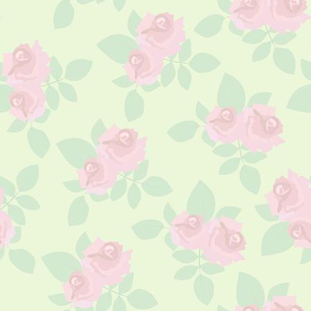 pastel backgrounds: Vintage roses seamless pattern Illustration
