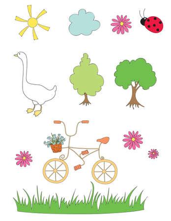 Summer season elements
