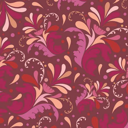 textile image: Floral ornamental wallpaper Illustration
