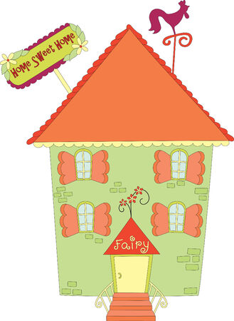 Hand drawn fabulous house Vector