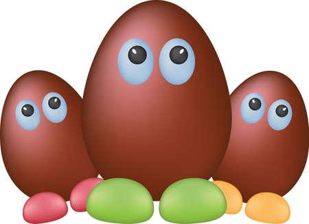 shapes cartoon: Huevos de chocolate divertidos