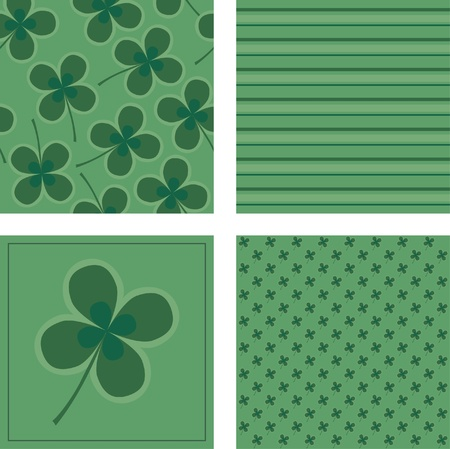 Green backgrounds with clover Stock Vector - 9148189