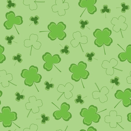 Seamless wallpaper with clover Vector