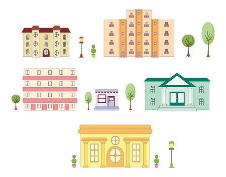 Stedelijke architectuur Stock Illustratie