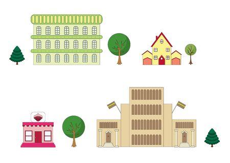 Urban architecture. Part 2 Vector