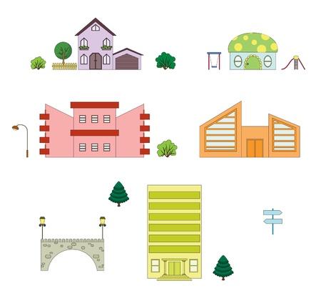 Architecture. Part 3 Stock Vector - 9353226