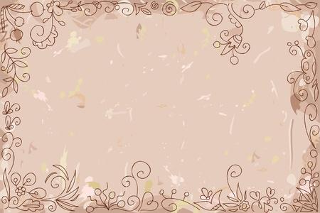 dibujo vintage: A�ada papel con un adorno